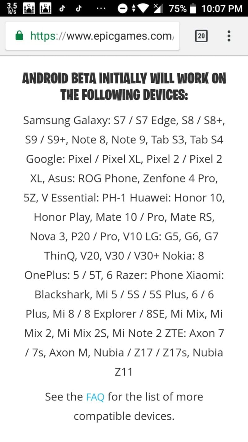Daftar smartphone yang bisa instal Fortnite versi Beta