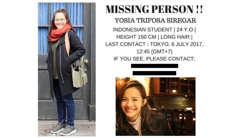 Gadis Indonesia hilang di Jepang.