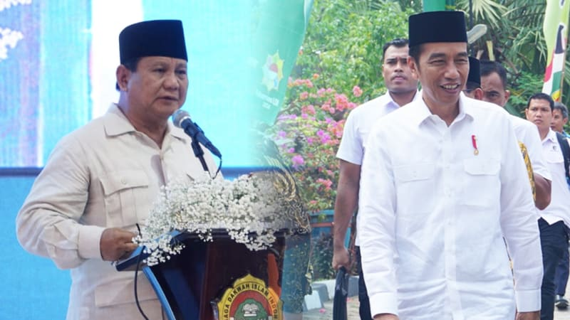 Presiden Joko Widodo dan Prabowo Subianto di Rakernas LDII