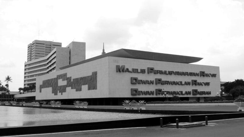 Gedung DPR/MPR RI (BW)