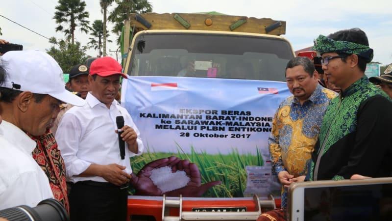 Mentan melepas ekspor beras ke Sarawak