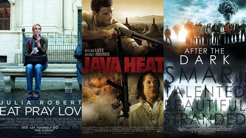 Eat, Pray, Love; Java Heat, After the Dark.