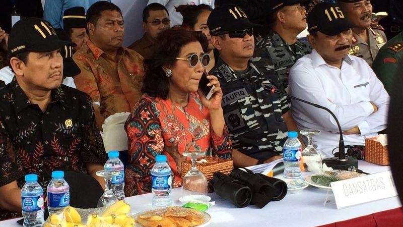 Menteri Susi di Ambon