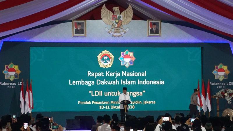 Jokowi, Rakernas, LDII, Pondok Gede