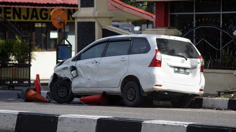 Mobil teror Polda Riau