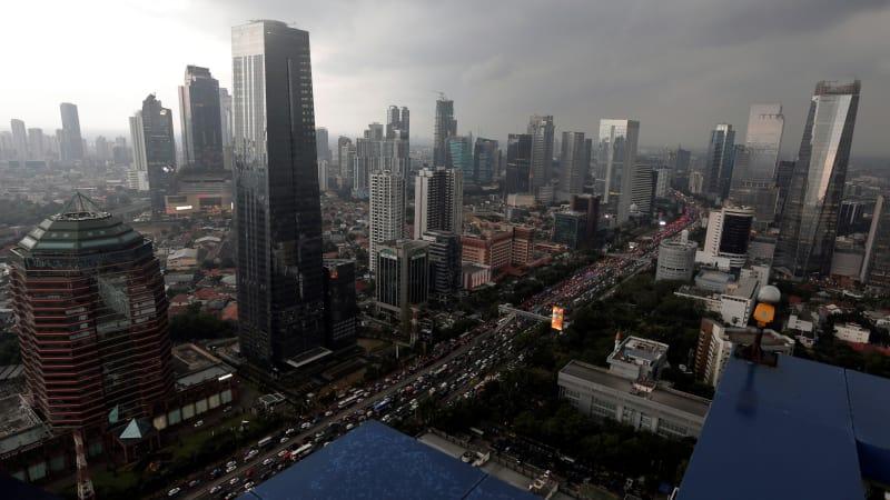 Pemandangan pusat bisnis SCBD Jakarta