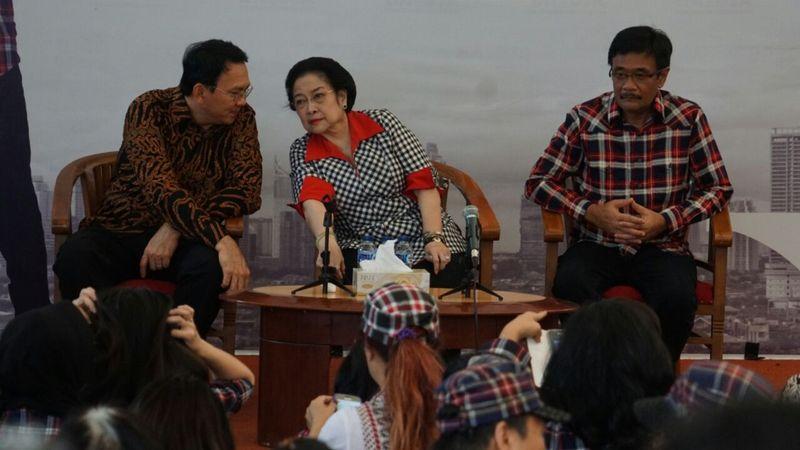 Megawati mengahdiri kampanye Ahok-Djarot