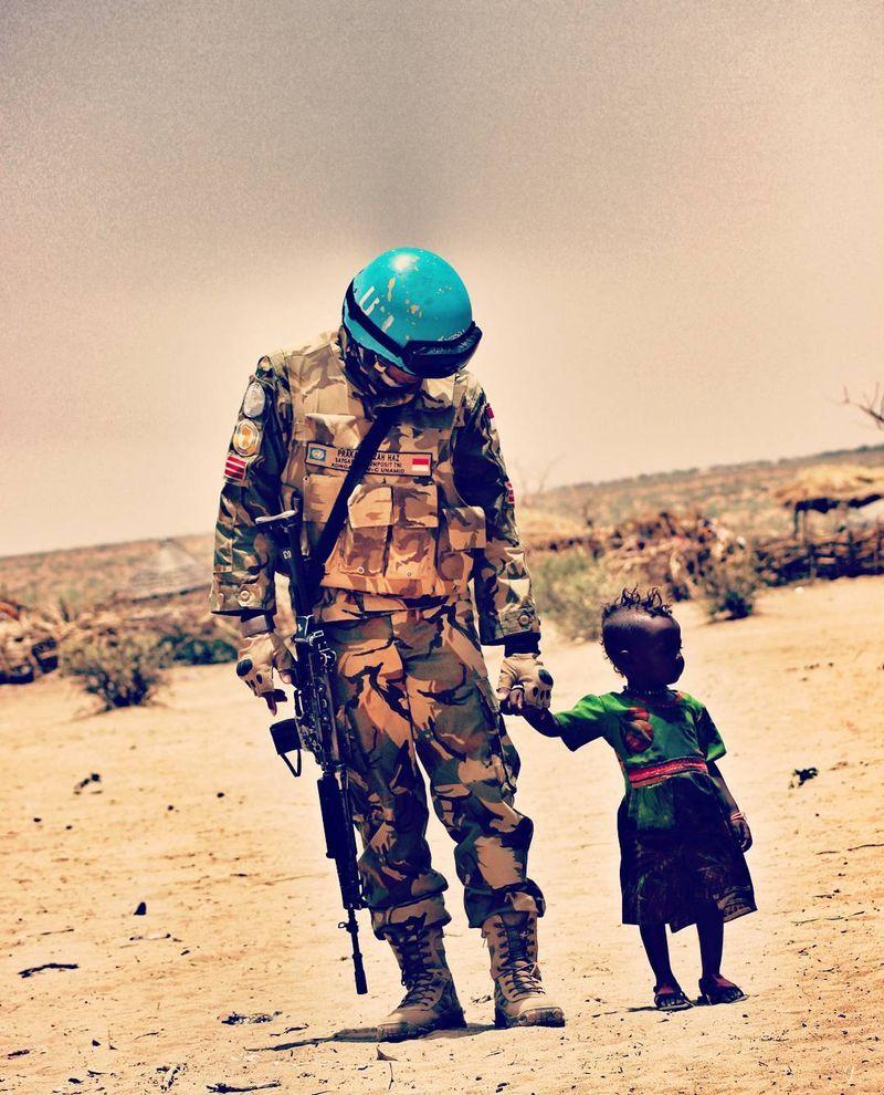 TNI bantu anak-anak Sudan (NOt COV)