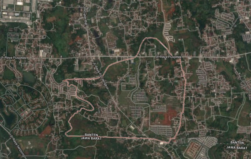 Peta bom Tangerang