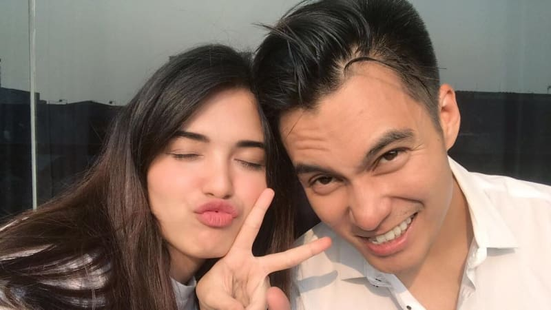 Vebby Palwinta dan Baim Wong