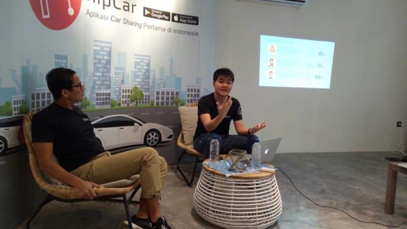 Sandiaga Uno diskusi tentang HipCar