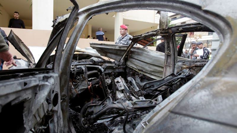 Mobil milik anggota hamas di Lebanon