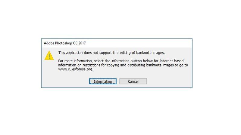 Notifikasi Adobe Photoshop CC 2017