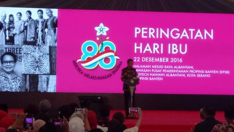 Jokowi Pada Peringatan Hari Ibu