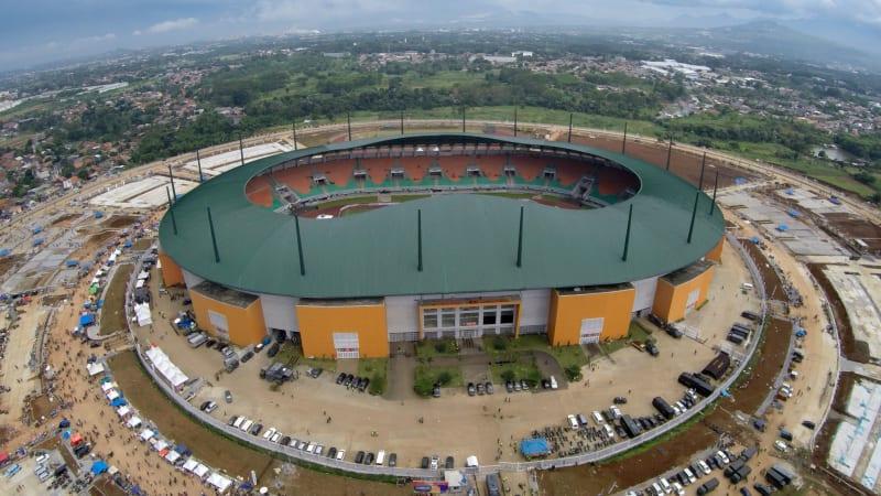 Penampakan Stadion Pakansari dari Udara