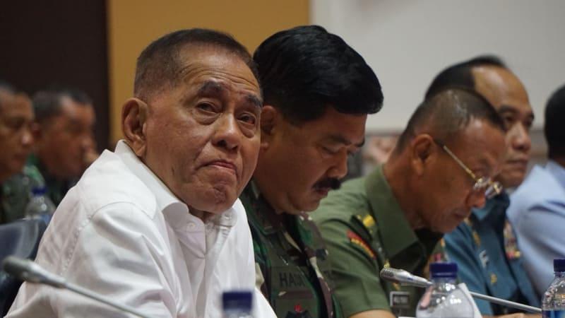 Ryamizard Ryacudu dan Panglima TNI Hadi Tjahjanto
