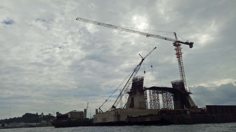 Pembangunan jembatan Pulau Balang II di Kalimantan Timur