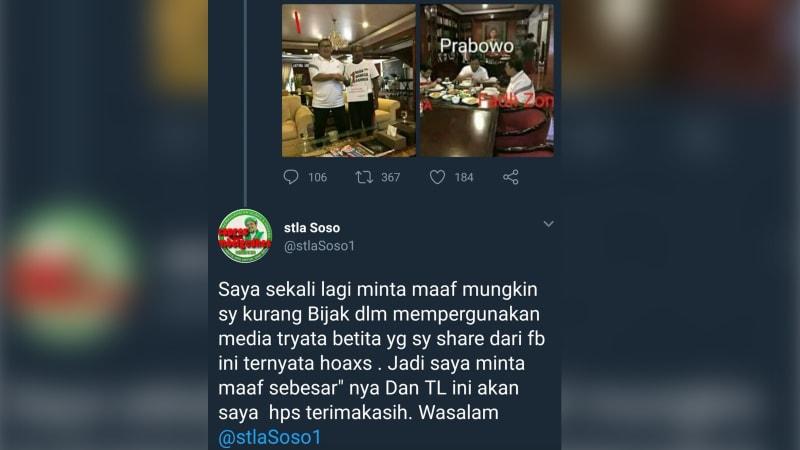 Permintaan Maaf Penyebar Hoaks MCA