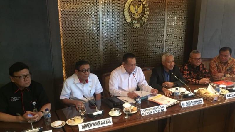 Rapat DPR, Pemerintah, KPU terkait PKPU Pencalegan