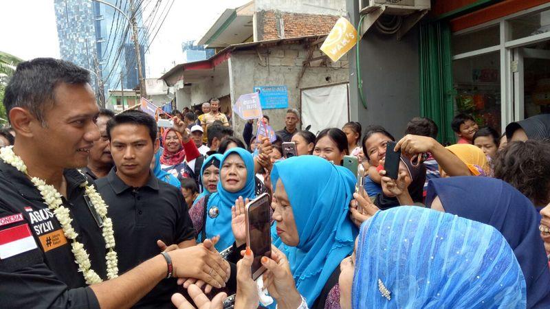 Agus Saat Kampanye di Tebet