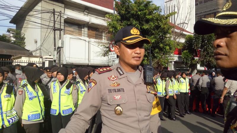 Pengamanan di Depan Pengadilan Jakarta Pusat