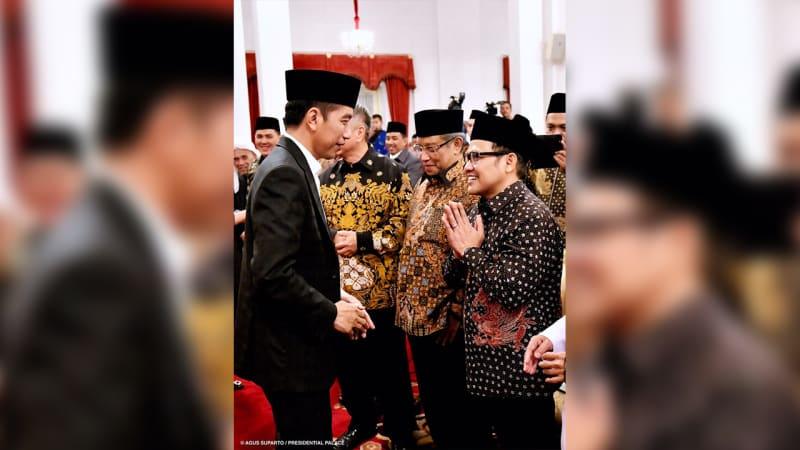 Jokowi dan Cak Imin di Istana Negara