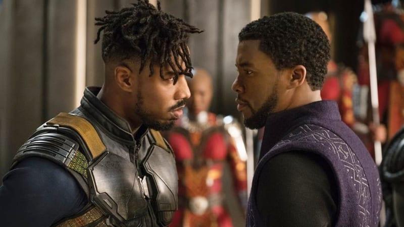 T'Challa dan Killmonger dalam Black Panther