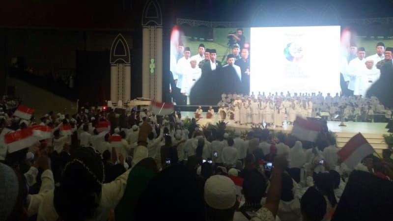 Jokowi, Ma'ruf Amin, dan Habib Luthfi di SCC