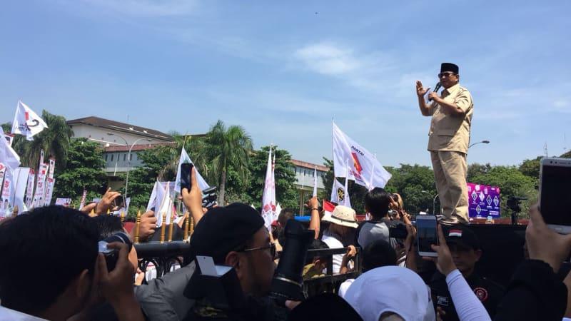 Prabowo kampanye akbar di Bandung