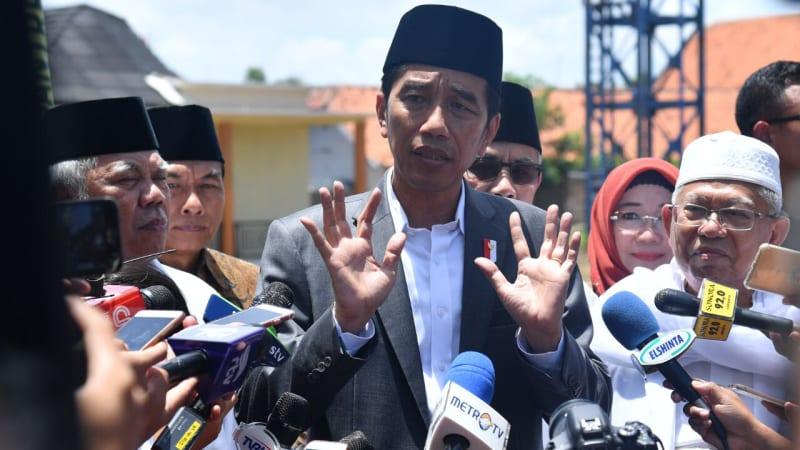 Jokowi meresmikan Bank Wakaf Mikro