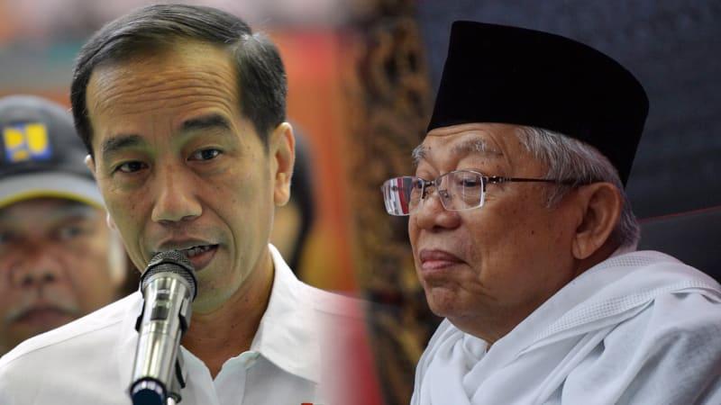 Ketua MUI KH Ma'ruf Amin, Jokowi