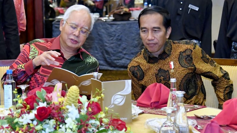 Jokowi dan PM Najib Tun Razak
