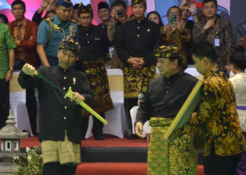 Presiden Jokowi dan Ketum IPSI Prabowo Subianto