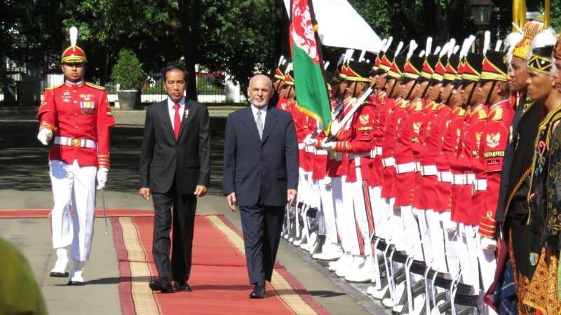 Presiden Jokowi dan Presiden Ghani Afghanistan