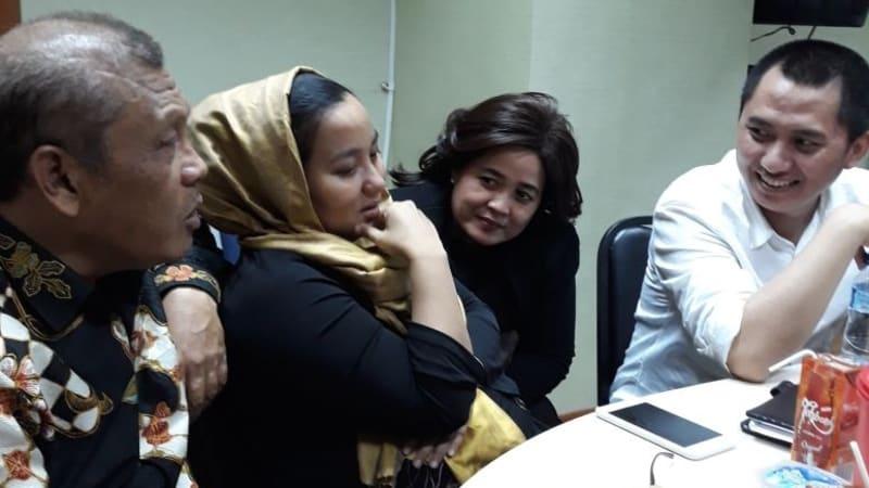 Anniesa Hasibuan saat ditahan di Bareskrim Polri