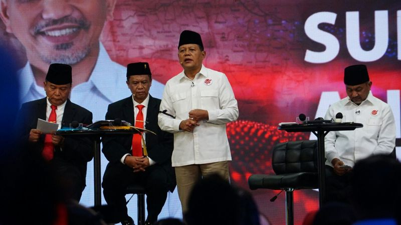 Suasana debat Pilgub Jawa Barat.