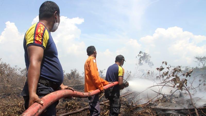 Pemadaman Kebakaran Hutan dan Lahan di Aceh.