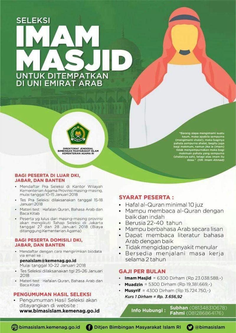 Brosur Seleksi Imam Masjid