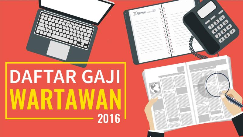Infografis Gaji Wartawan 2016