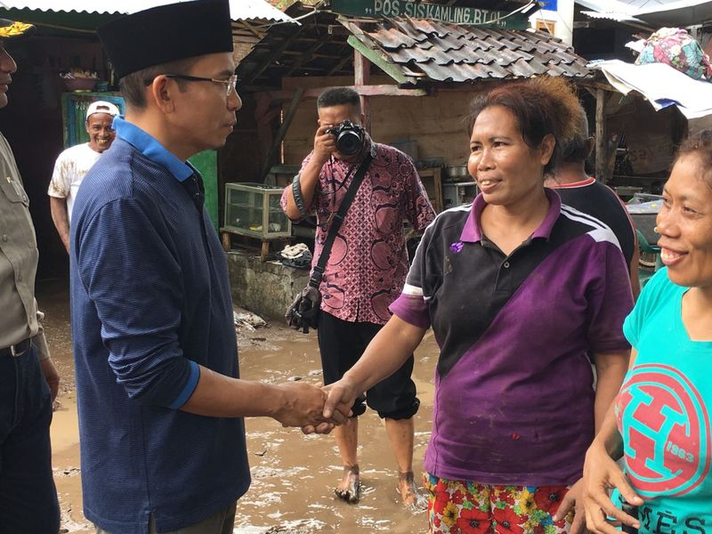 Gubernur NTB Tinjau Lokasi Banjir