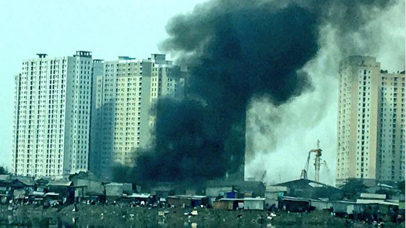 Kebakaran di Jakarta Utara