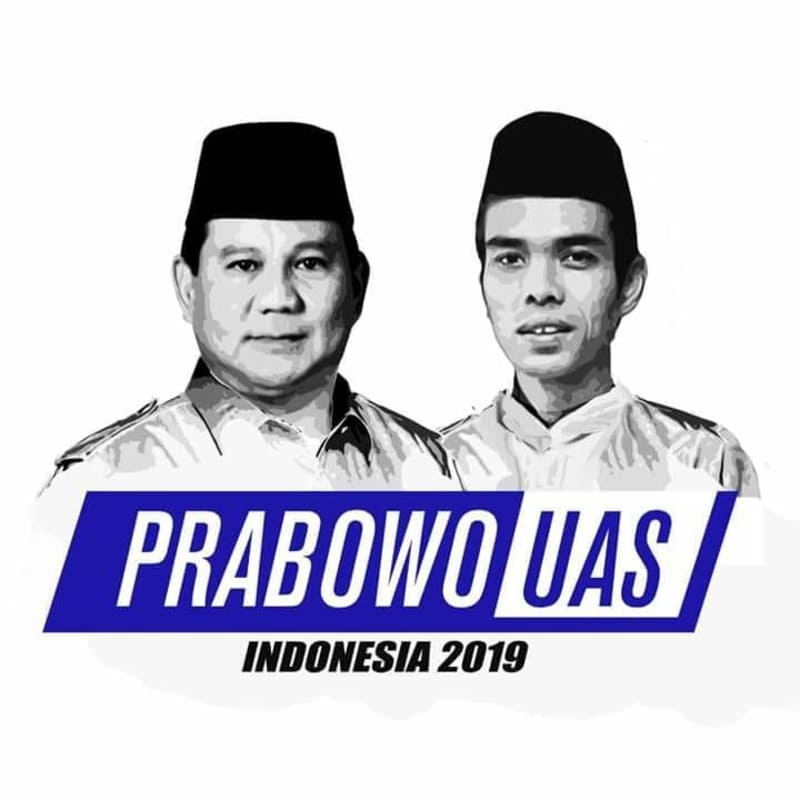 Poster Prabowo Subianto-Ustaz Abdul Somad