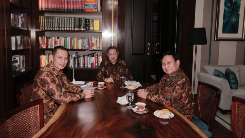 Pertemuan SBY, Prabowo, AHY