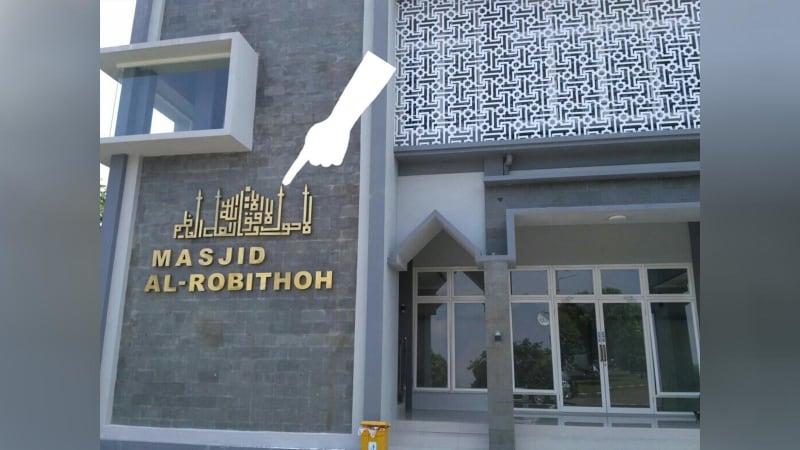 Logo masjid yang disebut mirip salib