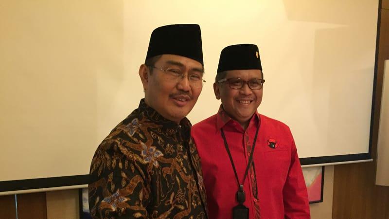 Sekjen PDIP dan Ketua ICMI Jimly Asshiddiqie