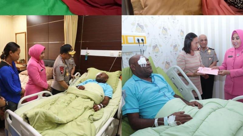 Polisi papu, terkena panah di mata, Papua