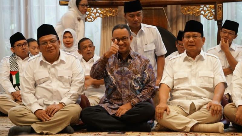 Anies di Kediaman Prabowo Subianto