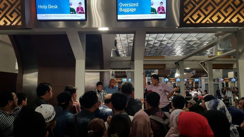 Suasana terminal 3 Bandara Soetta