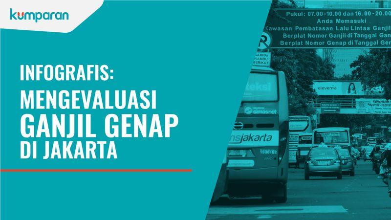 Infografis Tilang Ganjil Genap di Jakarta