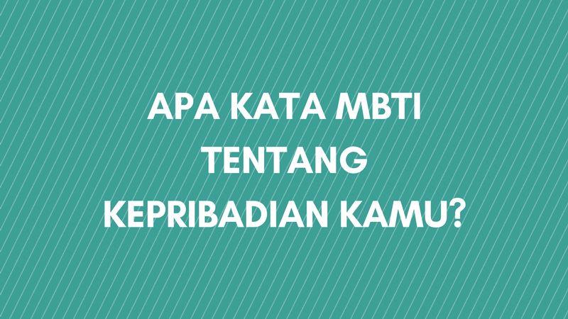 Apa Kata MBTI